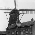 1945: foto met molen en molenaarshuis