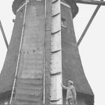 9 april 1947: molenaar Jongste bij de nieuwe fokwiek
