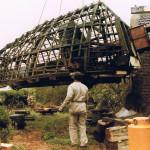 Februari 1987: de oude kap wordt verwijderd